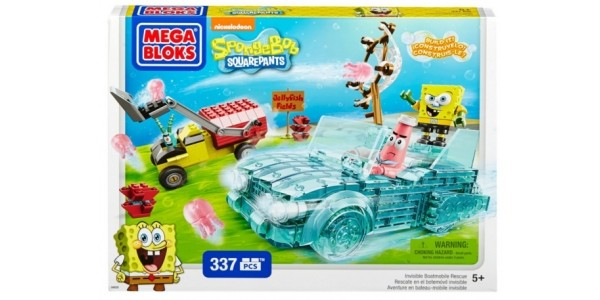 Mega Bloks Spongebob Squarepants Invisible Boatmobile Rescue £5.46 (was £19.99) @ Amazon