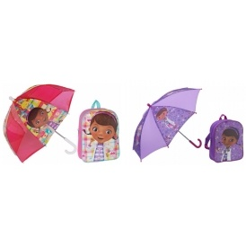 Doc McStuffins Umbrella & Backpack £3.99