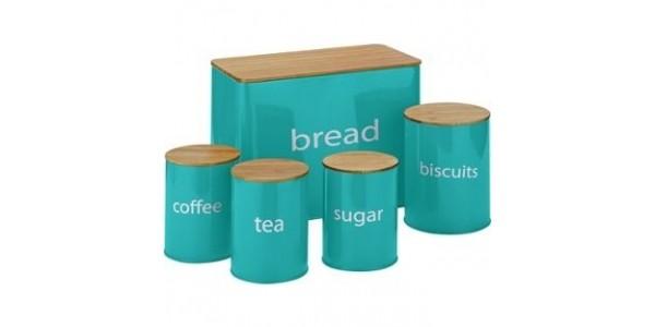 ColourMatch 5 Pack Wooden Lid Storage Jars £6.99 @ Argos