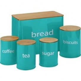 5 Pack Wooden Lid Storage Jars £6.99
