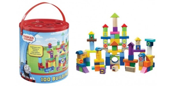 Half Price Thomas and Friends 100 Piece Wooden Block Set Now £9.18 @ Tesco Direct