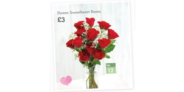 A Dozen Red Roses £3 From 12th February @ Lidl