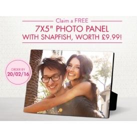 FREE Wooden Photo Panel @ Snapfish