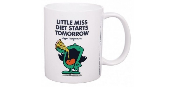 Little Miss Diet Starts Tomorrow Mug £6.99 @ Truffle Shuffle- Plus FREE Delivery On Orders Over £20 This Weekend