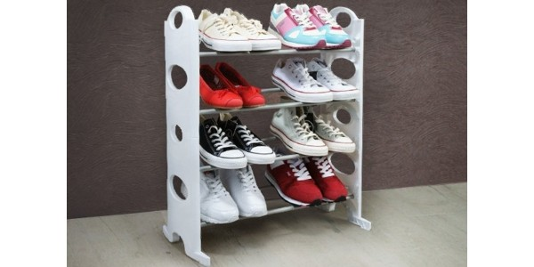 4 Tier Free Standing Shoe Rack £6.49 Delivered @ Amazon Seller: Vinsani