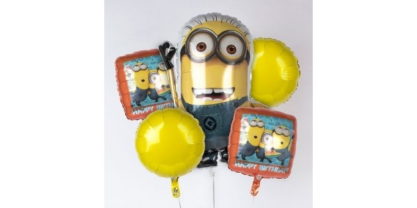 Minions Balloon Bouquet Bundle: 5 Pack £4.99 @ Argos