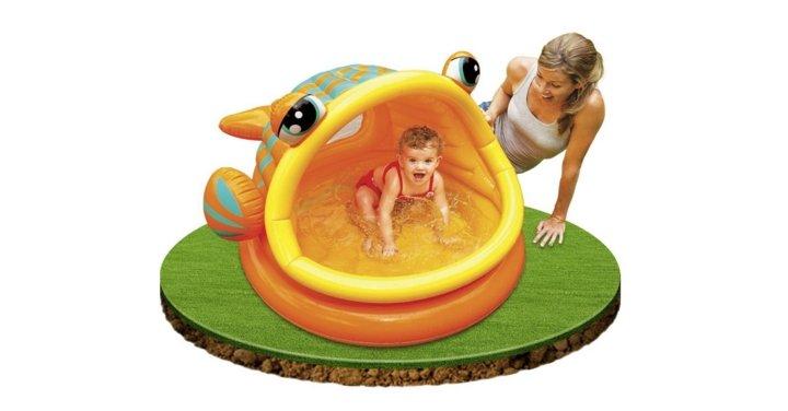 Intex lazy fish baby paddling pool or ball pond amazon for Intex pool koi pond