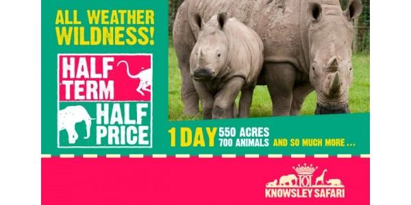 Half Price For Half Term @ Knowsley Safari Park