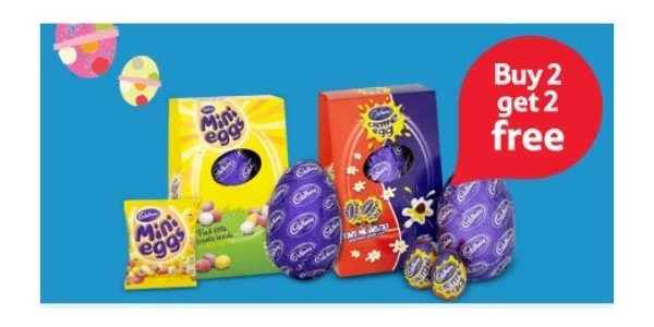 Buy Two Get Two FREE On Selected Medium Easter Eggs @ Tesco