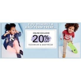 20% Off Kidswear & Babywear @ Asda