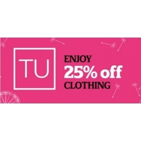 25% Off TU Clothing @ Sainsbury's