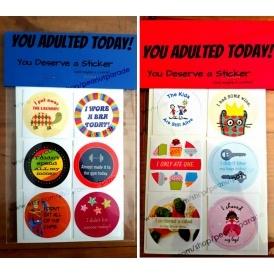 Adulting Reward Stickers £2.95 @ Etsy