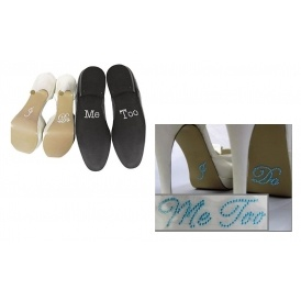 'I Do, Me Too' Crystal Wedding Shoe Stickers