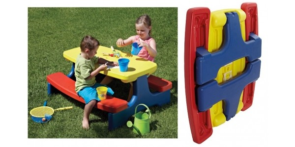 Kids Large Folding Table & Bench £39 @ Asda George