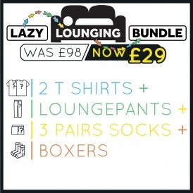 Men's Lazy Lounging Bundle £29 @ Plain Lazy