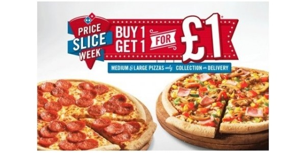 It's Back...Price Slice Week @ Domino's- Buy One Pizza Get One For £1