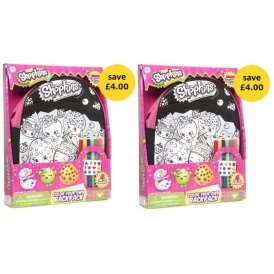 Shopkins Colour Your Own Backpack £8