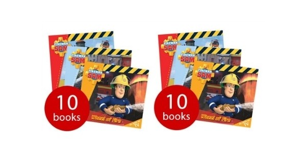 Fireman Sam 10 Book Story Library Collection £4 @ The Book People