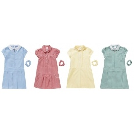 2 For £7 Gingham School Dresses @ F&F