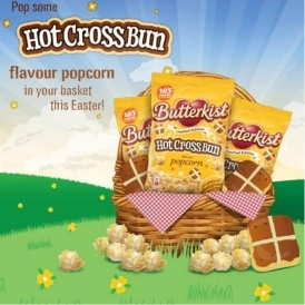 Hot Cross Bun Flavour Popcorn!