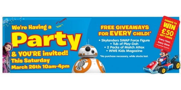 FREE Easter Party @ Smyths: Egg Hunt, Free Gifts, Face Painting, Candy Floss & More!