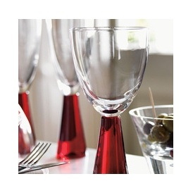Home Of Style Red Stem Wine Glass 43p