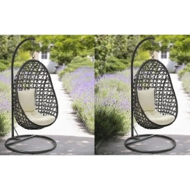 Rattan Swinging Egg Chair £100 @ B&M
