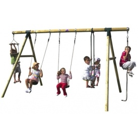 Plum Wooden Swing Set For £152 Delivered!