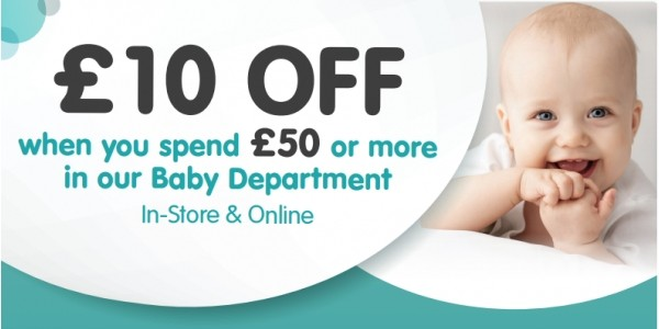 £10 Off When You Spend £50 On Baby (using code) @ Smyths Toys