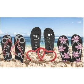 Just Married Flip Flops @ Groupon
