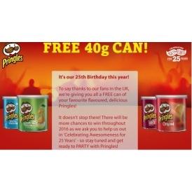FREE 40g Tube Of Pringles