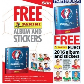 FREE Panini Euro 2016 Sticker Album