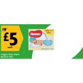 Huggies Pure Baby Wipes 10 Packs £5