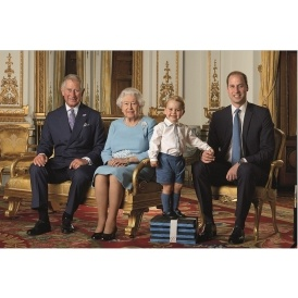 Prince George Poses For His First Stamp