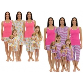 Mummy & Daughter Matching Pyjamas From £7.09