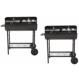 Charcoal BBQ With 2 Adjustable Grills £59