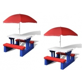 Kids Picnic Table With Umbrella £28.89