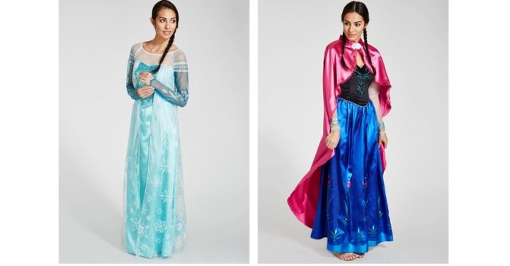 anna elsa costumes for adults half price matalan