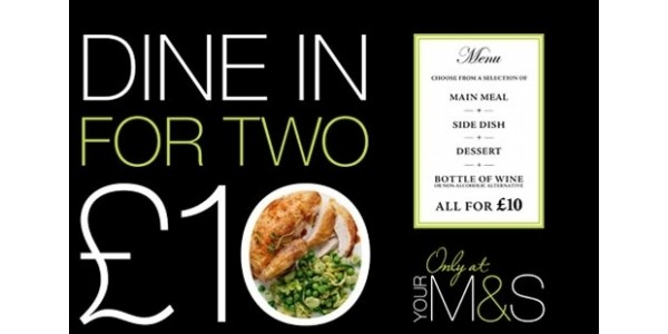 Dine In Meal Deal £10 @ Marks And Spencer