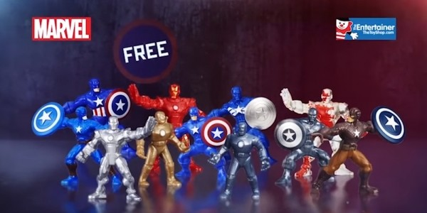 FREE Marvel Figures @ The Entertainer