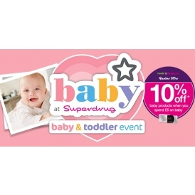 Superdrug Baby Event Now On