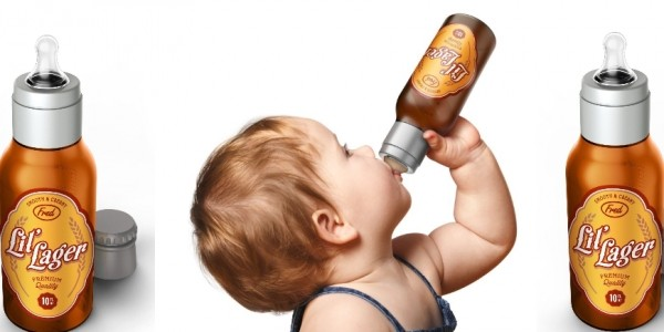 CHILL, BABY Li'l Lager Baby Bottle : Really?!