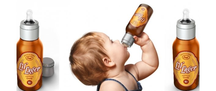 CHILL, BABY Li'l Lager Baby Bottle, Really?!