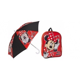 Minnie Mouse Backpack & Umbrella Set £5.99