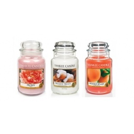 3 Large Jar Yankee Candles £45 Delivered
