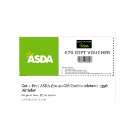 Scam Alert: Fake Asda Voucher Giveaway