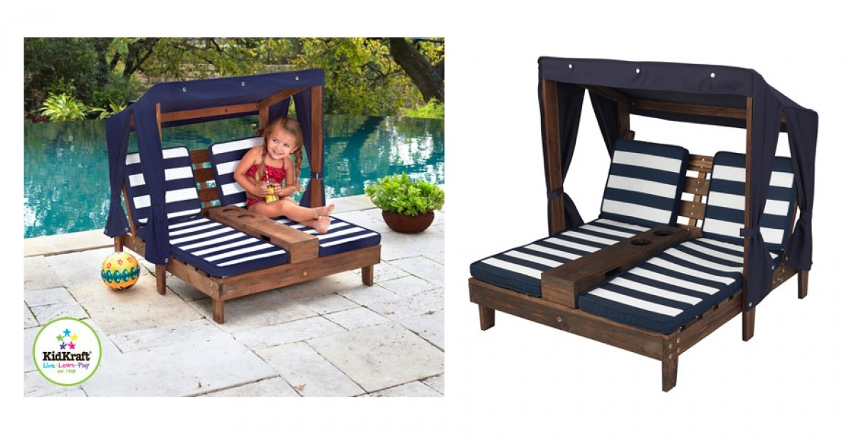 Kidkraft double chaise lounger delivered costco for Ava chaise lounge costco