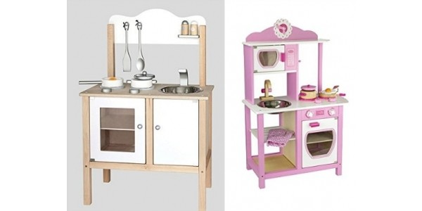 Viga Wooden Play Kitchens From £36.99 @ Net_Price_Direct