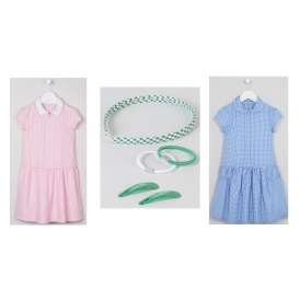 TWO For £10 On Gingham School Dresses