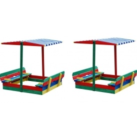 Sandbox With Seats & Shade £79.99 + £2.99